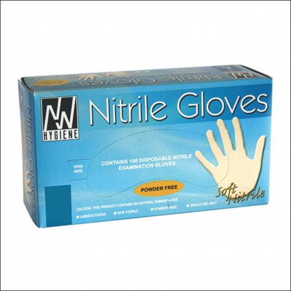 Nitrile Examination Gloves (Small) (100 gloves per box)