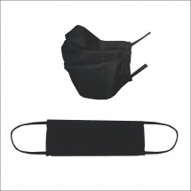 2Ply Reusable face mask - Black/Navy fabric (10 Pack)
